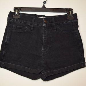 Hollister black jean shorts size 26
